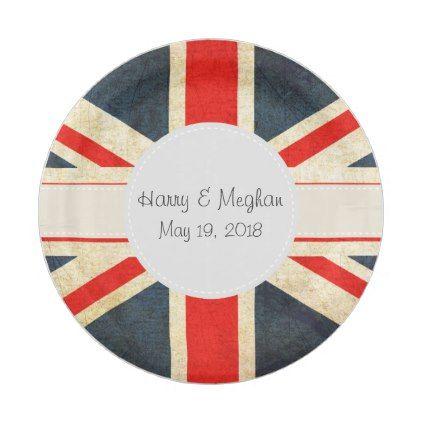#party - #Vintage Union Jack Royal Wedding Paper Plates