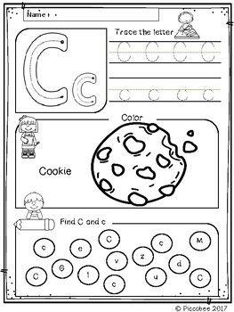 Alphabet Worksheets (Set 1) | Preschool | Pinterest