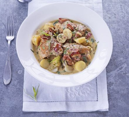 chicken, bacon and potato stew