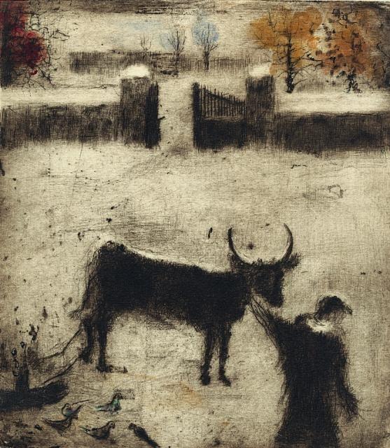 Bohuslav Reynek- Pieta na dvoře