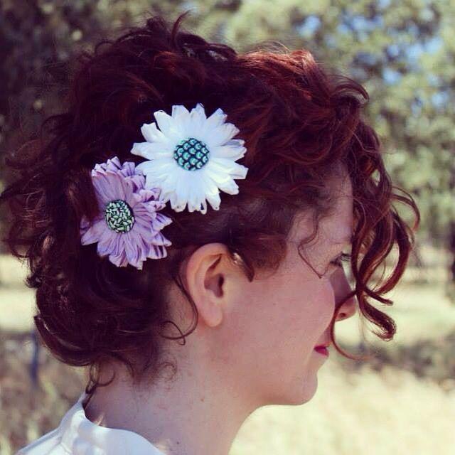 Handmade hairflower whit happy paint