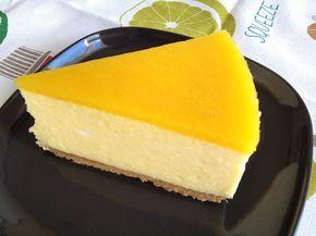 Tarta de mousse de mango