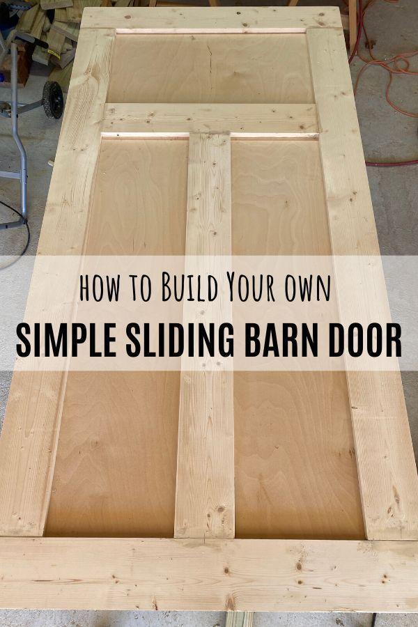 Diy Simple Sliding Barn Door In 2020 Door Woodworking Plans Diy Sliding Barn Door Diy Door