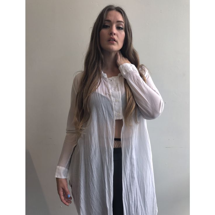 LaLA _ Wrap Shirt/ worn long