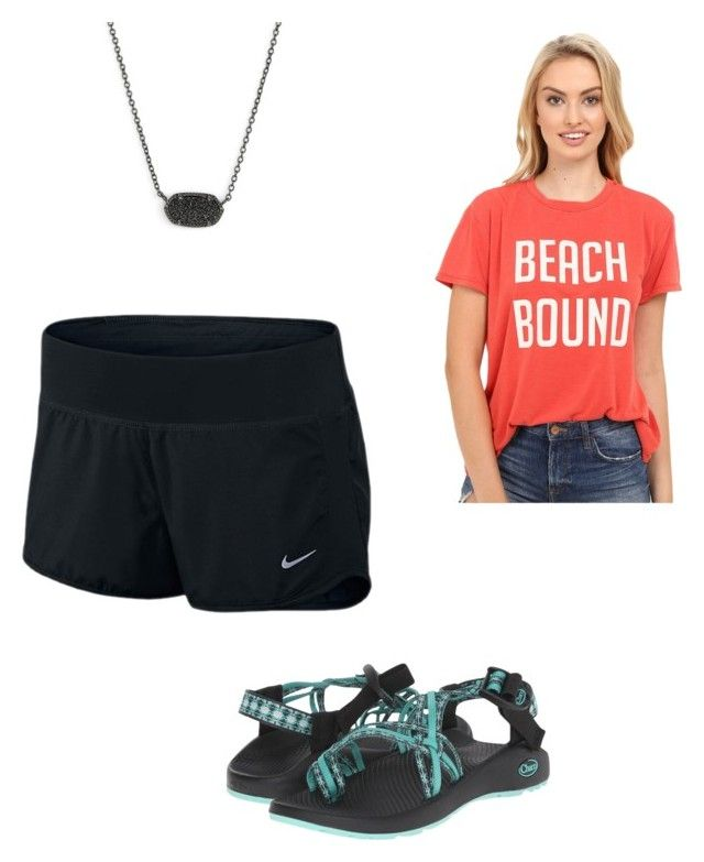 """Untitled #49"" by averykrolczyk00 on Polyvore featuring Chaco, NIKE, Show Me Your Mumu and Kendra Scott"