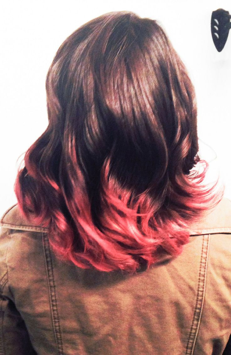 pink dip dyed hair on black hair wwwimgkidcom the
