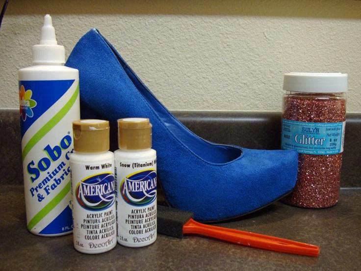 glitter glitter glitter: Crafts Ideas, Artsy Craftsi, Creative Ideas, Sparkly Shoes, Glitter Shoes, Glitter Wedding Shoes, Black Shoes, Shoes Crafts, Diy Glitter Heels