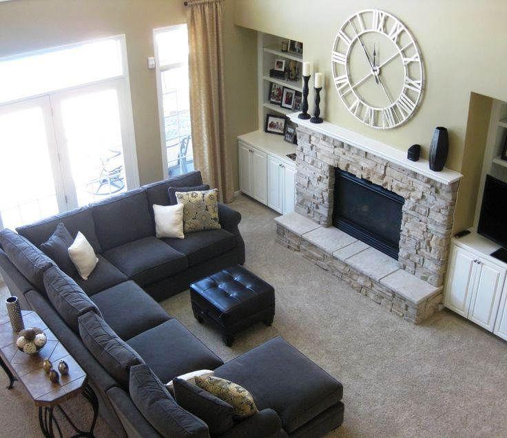 Warna Cat Ruang Tamu Yang Sejuk Sectional Sofas Living Room Living Room Sectional Livingroom Layout
