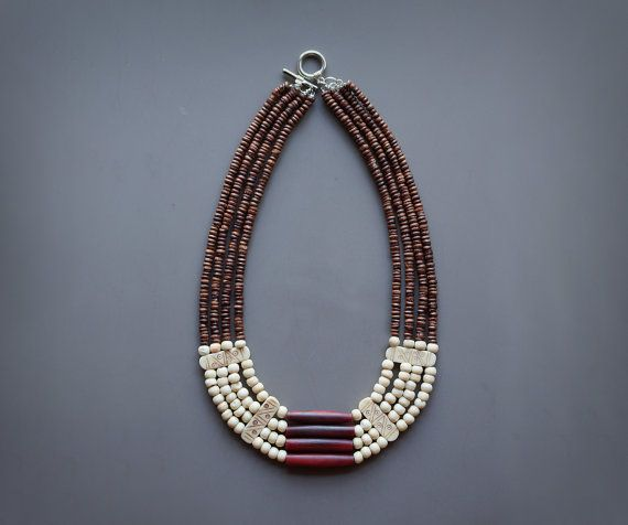 Tribal bone necklace