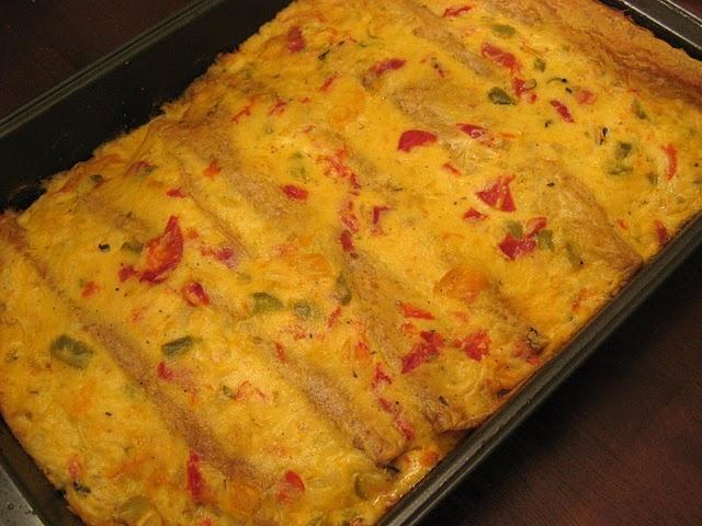 Creamy Shrimp Enchiladas.