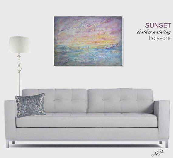 #ocean #sunset #oceanpaniting #purple #orange #sunsetpainting #artset  #artexpression #aesthetic #painting #leather #wallart #homedesign #homeset #decor #homedecor #beautiful #leatherart #walldecor #artnouveau #stylish #modern #beatiful #blue #seascape #polyvore
