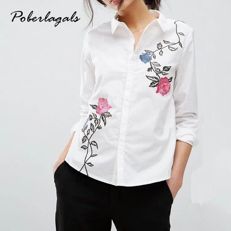 Summer 2017 New Women Fashion White Embroidered jacqua long-sleeve Blouses Casual Loose Tops femme blusas shirts blousewomens