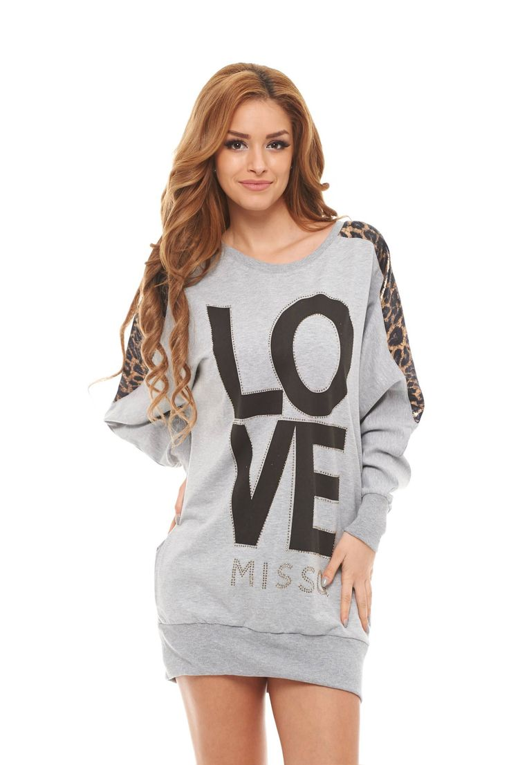 MissQ Simple Love Grey Blouse