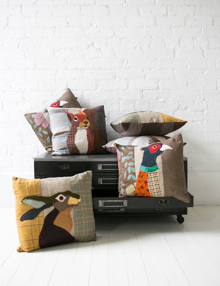 Hare Applique Cushion at Rose and Grey