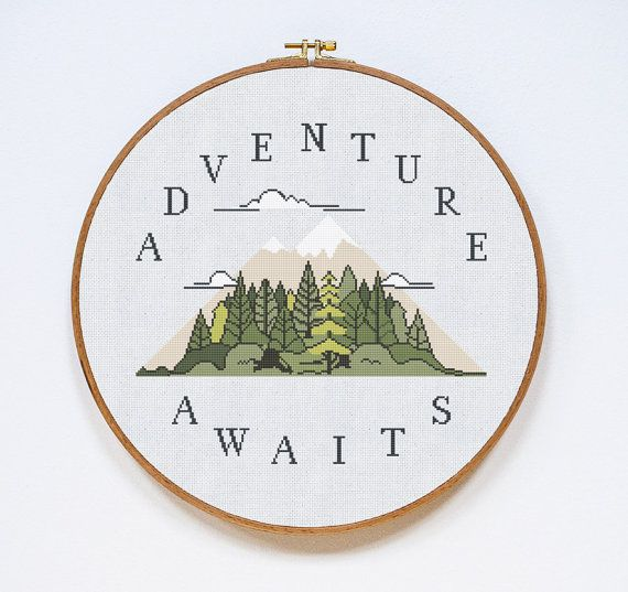 Adventure Cross Stitch Pattern Adventure Modern by Stitchering
