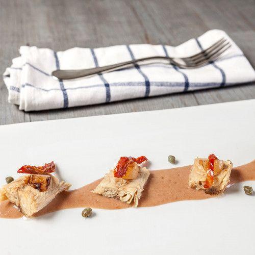 Mackerel in Puttanesca Sauce