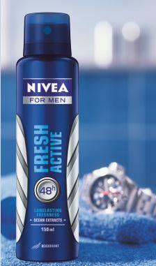 Free 1000 Nivea Fresh Active Deodorant & 4 IPads to Win