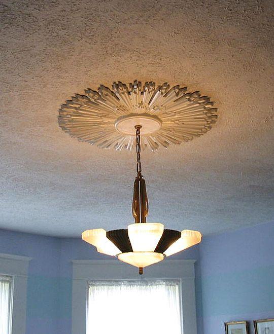 Art deco ceiling medallion ekena millwork and chesterfield rosette ceiling medallion rsmaker com