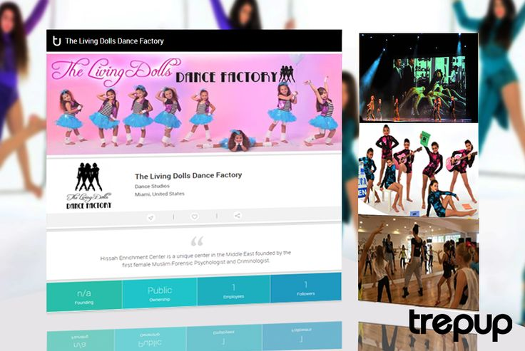 Using dance as the medicine for personal enrichment, we have The Living Dolls Dance Factory from Miami, USA. On Trepup. http://trepup.co/1Tn696J