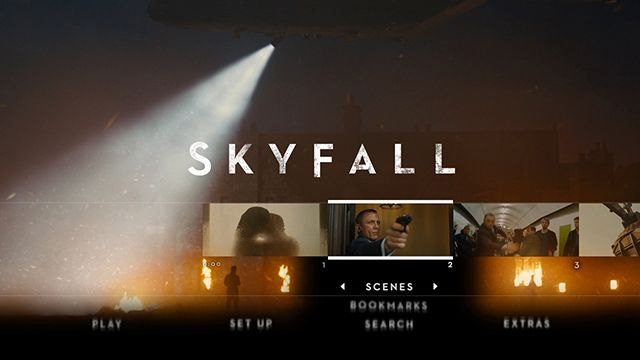 Skyfall Blu-ray scene selector