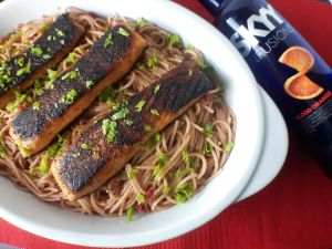 cranberry-margarita-pasta-with-blackened-agave-salmon-by-allsauced-com