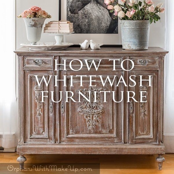 I was reluctant to paint over this antique renaissance-style buffet, but it had too many flaws. I decided to whitewash it instead, thereby still maintaining the wood look. Link to post is in profile. #paintedfurniture  #furnituremakeover  #relooking  #relookingmeuble  #antiques  #renaissancestyle  #buffet #whitewashed  #diy  #orphanswithmakeup #fusionmineralpaint