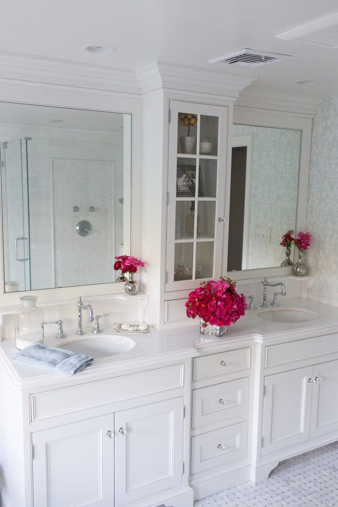 Bathroom Vanity Height Mediterranean with White Cabinets Traditional Tissue Box Holders