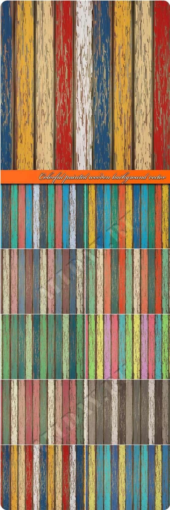 Деревянные доски покрашенные красной в разные цвета | Colorful painted wooden background vector