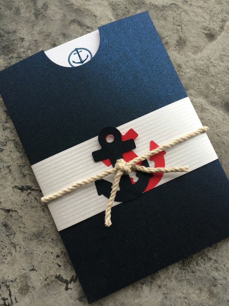 Nautical Pocket Wedding Invitation Set ~ Personalize