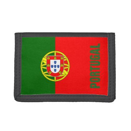 #Portuguese flag of Portugal custom velcro wallet - #country gifts style diy gift ideas