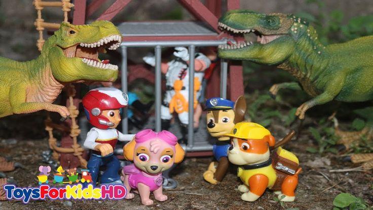 Videos de Dinosaurios para niños/La Patrulla Canina y los cazadores de Dinosaurios Capitulo Completo