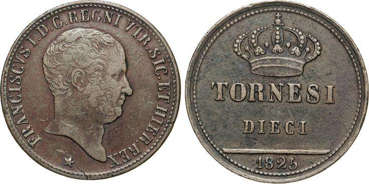 NumisBids: Numismatica Varesi s.a.s. Auction 65, Lot 507 : NAPOLI - FRANCESCO I DI BORBONE (1825-1830) 10 Tornesi 1825. ...
