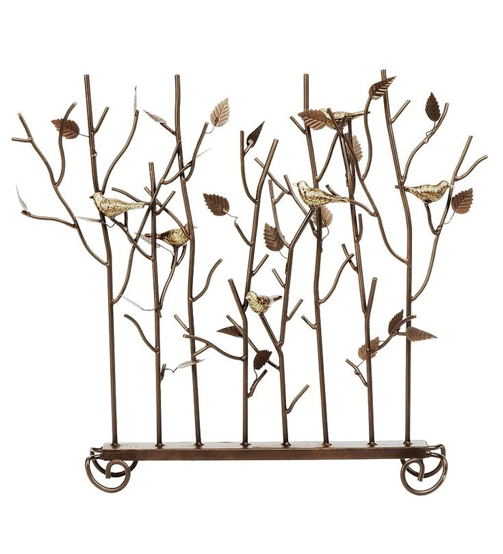 Birds Summer Decorative Fireplace Screen, $139.95, Plow & Hearth -- for a non-working fireplace, fireplaces that aren't safe, or fireplaces during warmer months