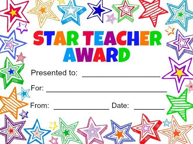 free printable teacher appreciation certificates
