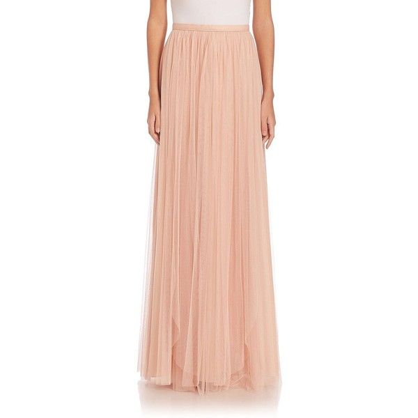 Jenny Yoo Arabella Long Tulle Skirt ($220) ❤ liked on Polyvore featuring skirts, apparel & accessories, red tulle skirt, jenny yoo, long maxi skirts, long red tulle skirt and long red skirt