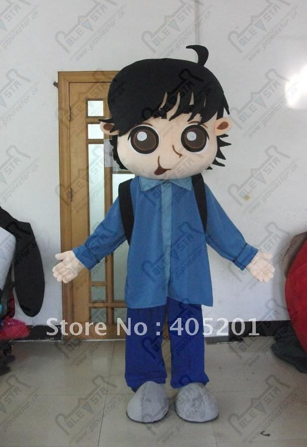==> [Free Shipping] Buy Best clever school boy mascot costumes pupil costume green backpack boy costumes big eyes cute kids costumes EVA head with fan helmet Online with LOWEST Price   601667997