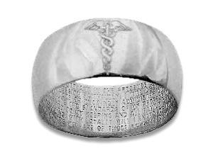 Nightingale Nurse Ring - has the entire Nightingale pledge engraved inside