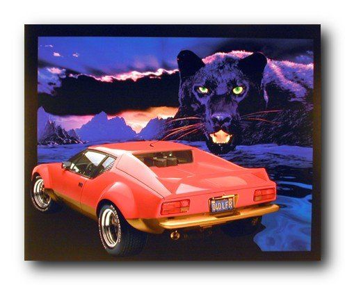 Absolutely Stunning! If you feel empty and lonely by viewing your dull walls then refill our surrounding with passion and emotion through this wonderful Stockton city art print poster. You'll enjoy viewing this Black Panther and red Ferrari into your wall. This poster depicts the image of a mountain cliffs and path where a red hot Ferrari car is parked and a Black Panther coming towards the car is sure to attract lot of attention.