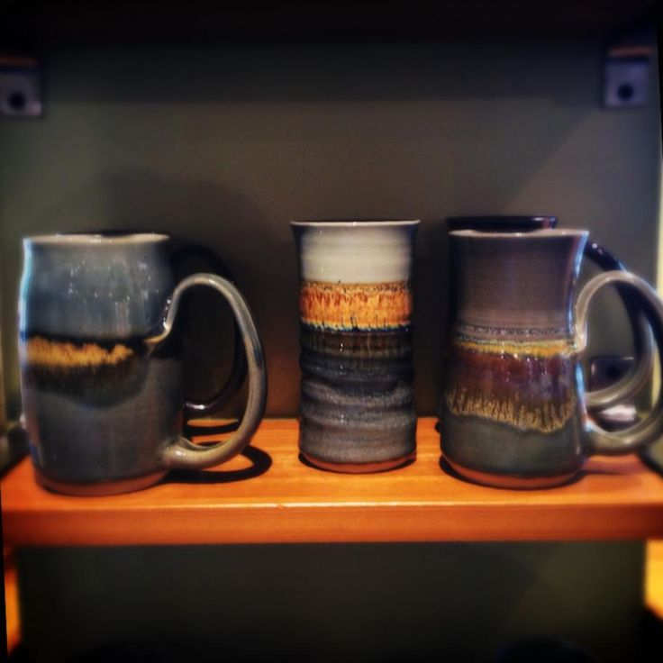 Meg Gallop is the most successful potter we have ever seen! Her mugs fly off our shelves. She just restocked us. Come grab one! #Pemberton
