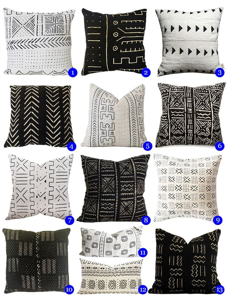 "Trend Report: This is The New ""It"" Home Accessory - mud cloth cushions! - www.homeology.co.za"