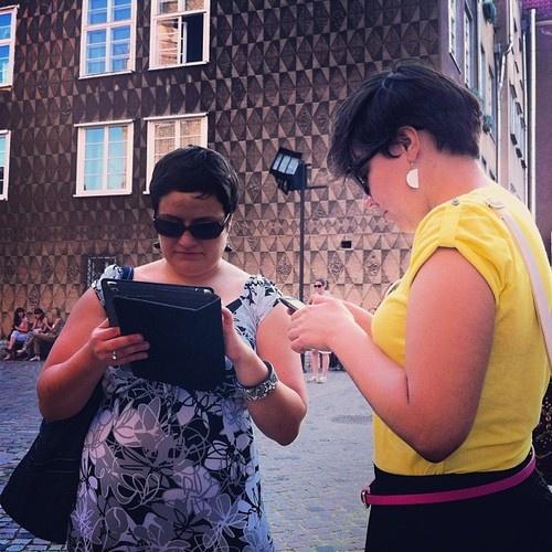 Instagramers in action @martaszadowiak @evooshoo #instagram #instameet #igersgdansk #instameetgdansk  (Taken with Instagram at Kosciol Mariacki)