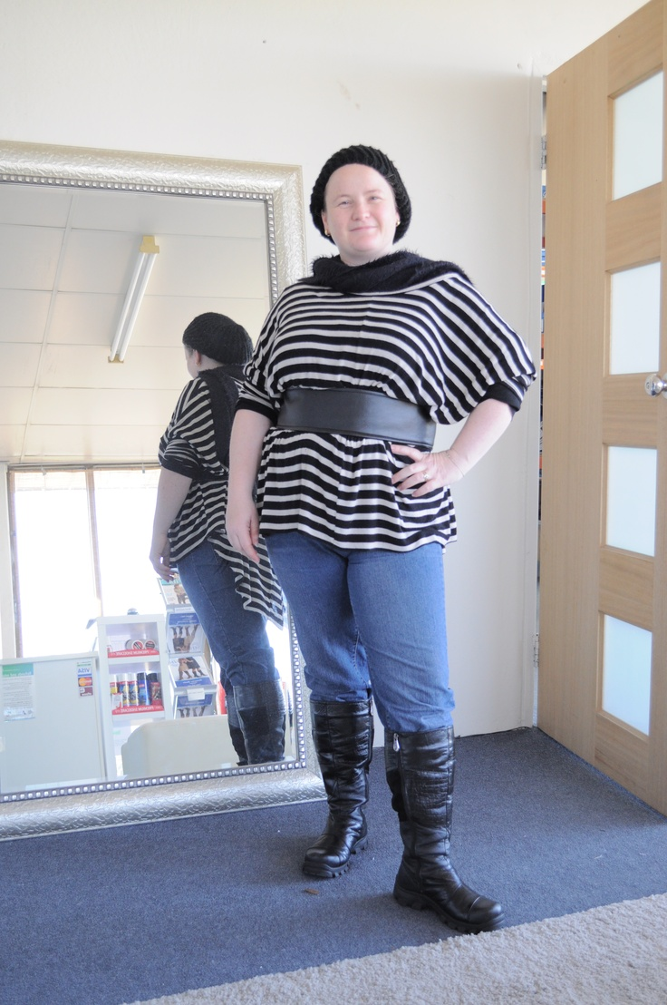 Amanda ready for a cold day with her BB Belt to keep the Warm cozy layers we all love on a winter's day in check