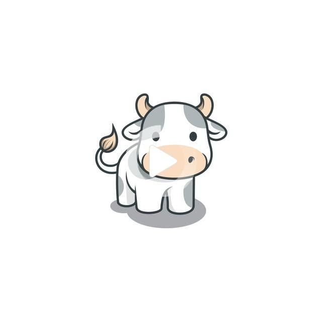Cute Cow Vector Logo Illustration Illustration Cute Cow Png And Vector With Transparent Cow Vector Cow Icon Logo Illustration