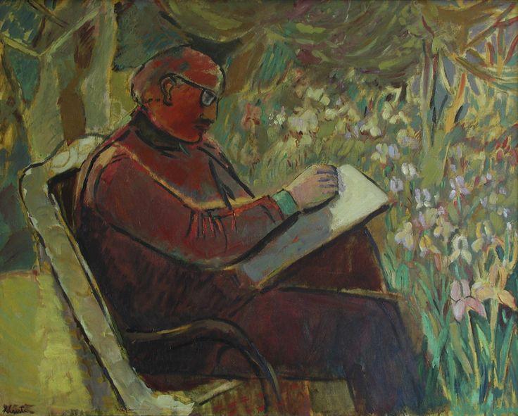 Ximena Cristi - Retrato de Abraham Freifeld - Óleo sobre lino