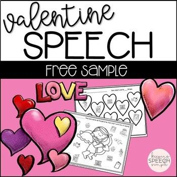 free sample valentine 39 s day speech no prep worksheets s speech pathology terapia. Black Bedroom Furniture Sets. Home Design Ideas