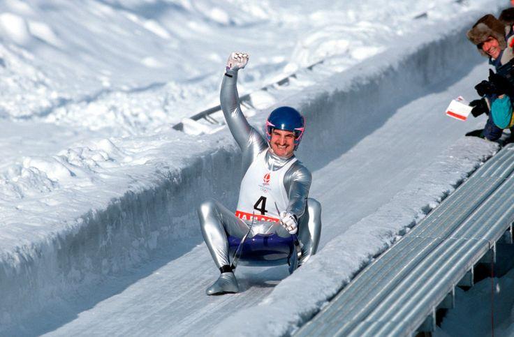 Geotg Hackl- Erstes Olympiagold im Rodeln - Alberville 1992
