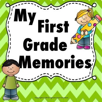 My First Grade Memories Book is a great product to help your students remember their fantastic 1st grade year that they had with you! This product has many different backgrounds and pages that will give your students a variety of ways to document their year.Includes Pages*Photo page for student *Photo page for class*Photo page for my family*Photo page for best friend*Photo page for teacher*Photo page for student last day *I love my teacher*I love my best friend*I love my class*I love my…