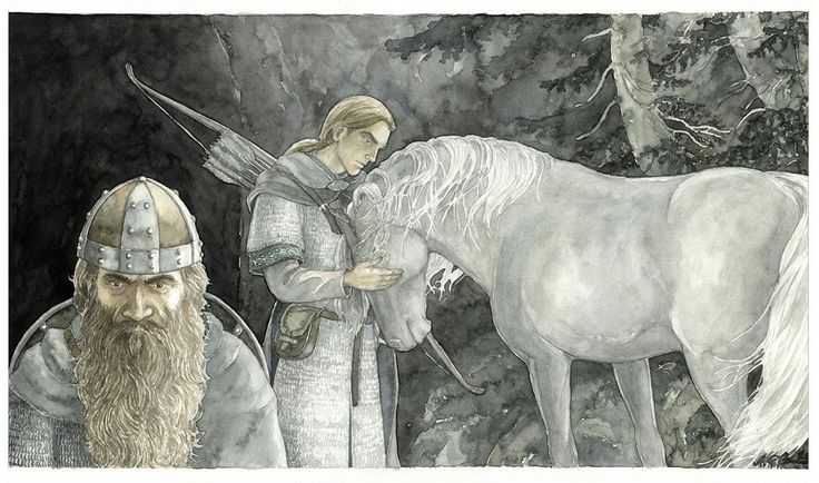 The Door of the Dead, by Anke-Katrin Eiszmann. I thought this was a good representation of both Gimli and Legolas, much as I pictured them.