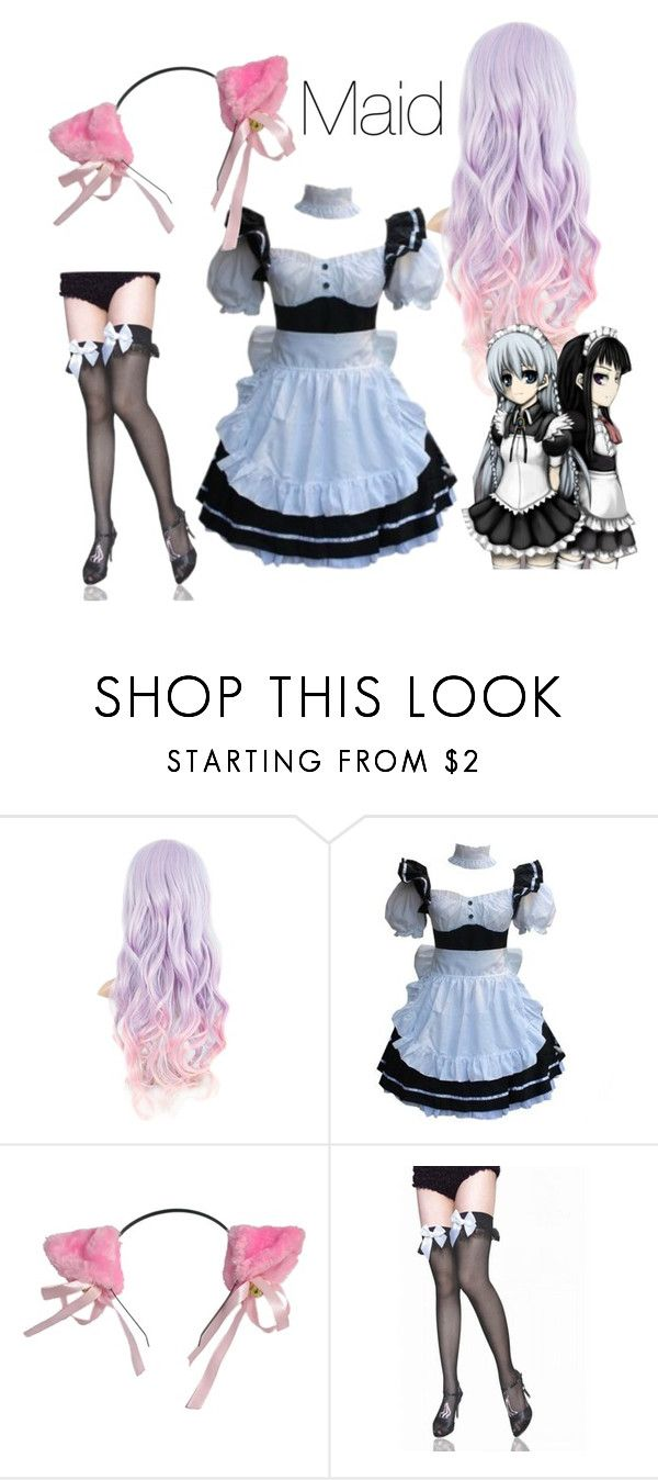 """neko maid"" by angel-x3 ❤ liked on Polyvore featuring anime, kawaii, cosplay, maid and Neko"