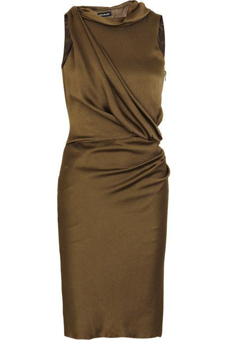 Anna Molinari Textured silk dress